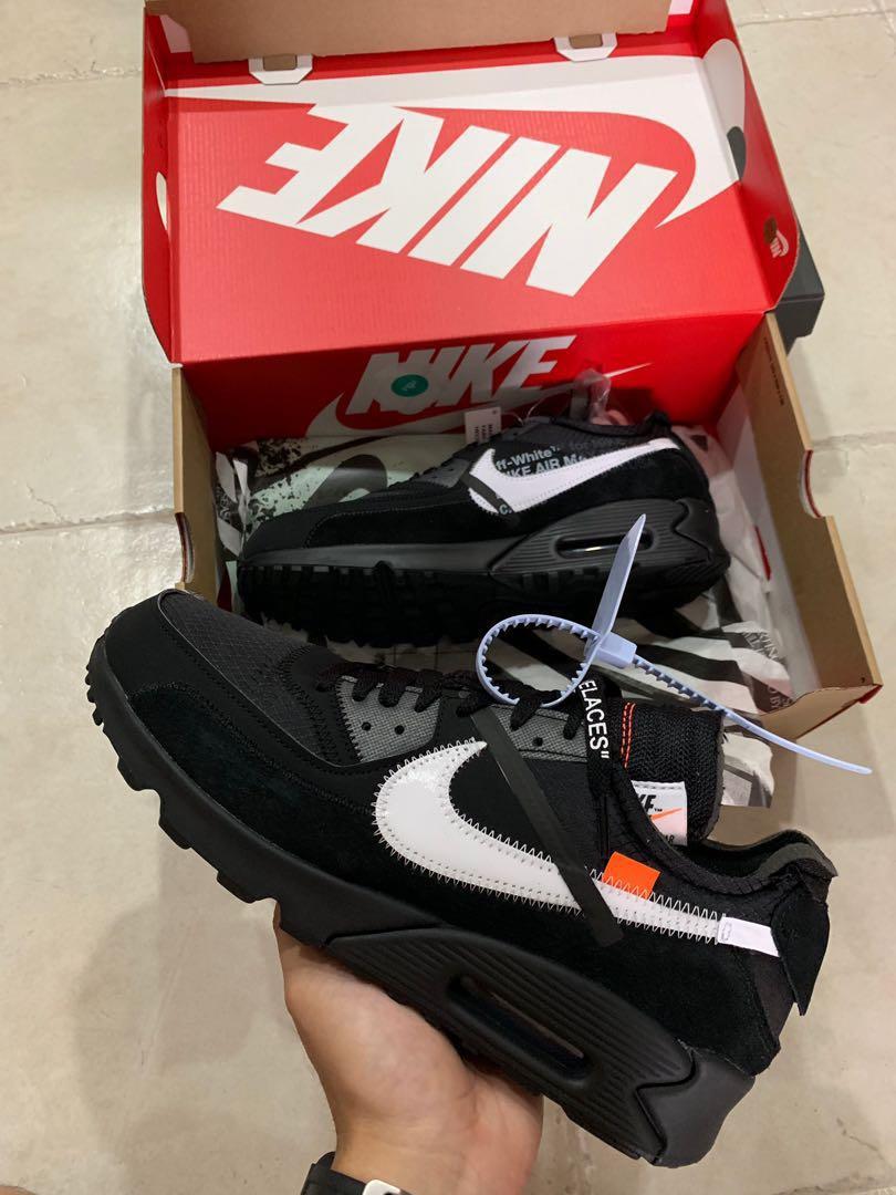 d90b7061e2 Nike off white air max 90 black, Men's Fashion, Footwear, Sneakers ...