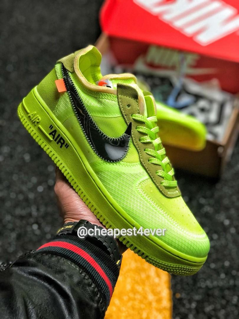 "Off-White x Nike Air Force 1 Low ""Volt"" 2.0 AO4606-700"
