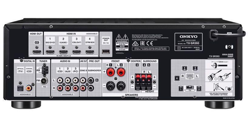 Onkyo Tx-SR393, Electronics, Audio on Carousell