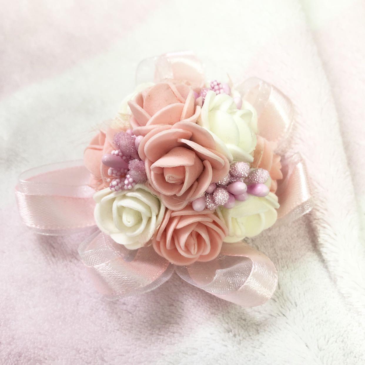 Pink Corsage 姊妹手花
