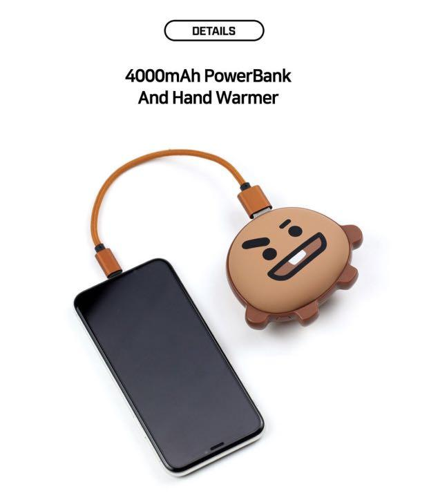 [PO] OFFICIAL BT21 PORTABLE CHARGER/ POWER BANK/ HAND WARMER