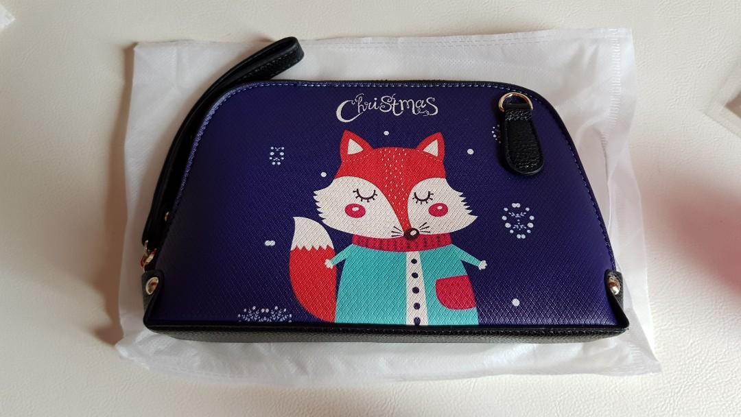 Purple clutch / pouch