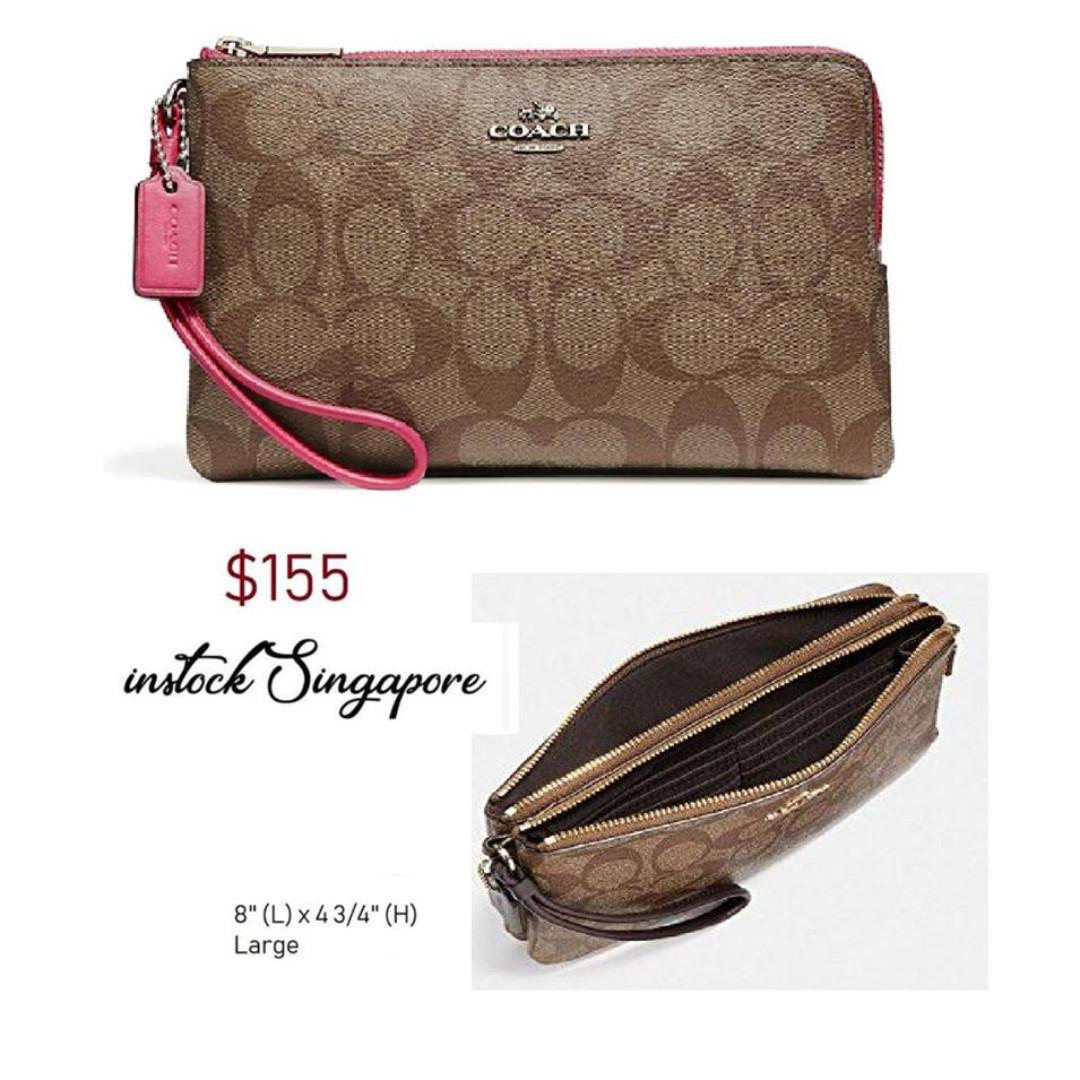 9564f300 READY STOCK -AUTHENTIC - NEW Coach DOUBLE ZIP WALLET IN SIGNATURE ...