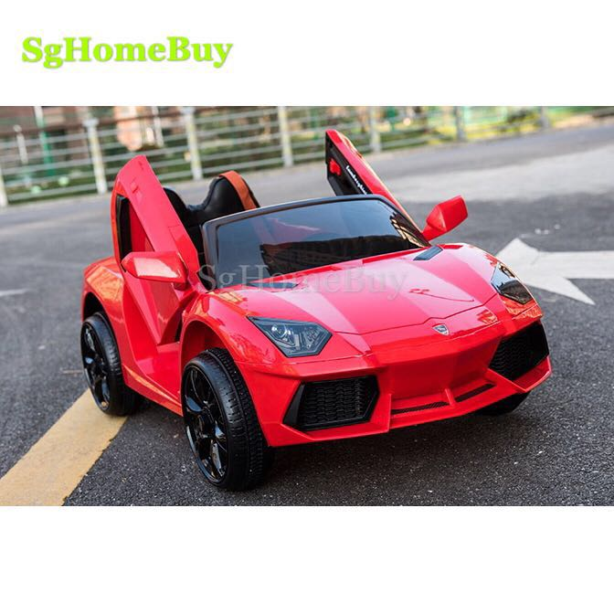 Red Lamborghini Kids Electric Car Babies Kids Toys Walkers On