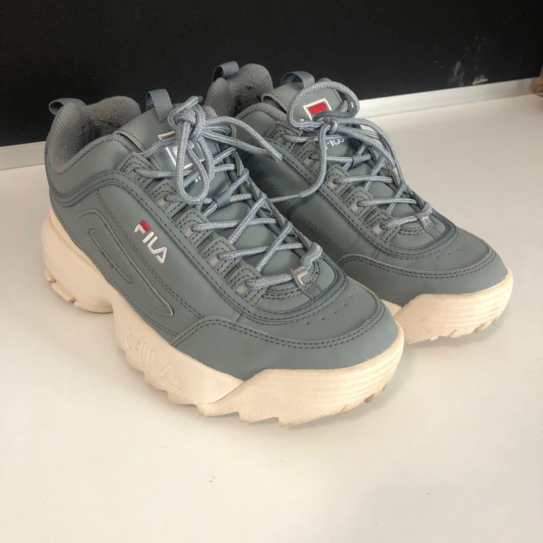*REDUCED* AUTHENTIC FILA DISRUPTOR II 2 WOMENS SNEAKERS GREY SIZE 39/US 8