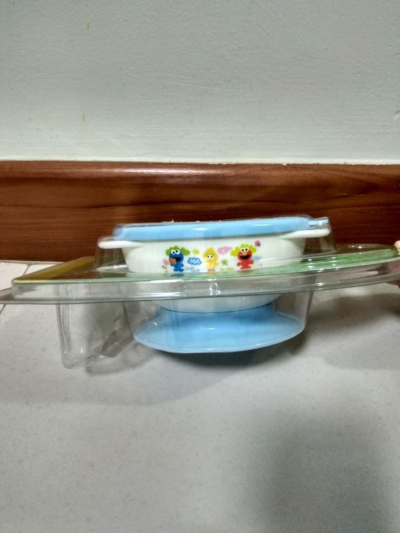 Sesame Street non-slip bowl and Beaba cutlery