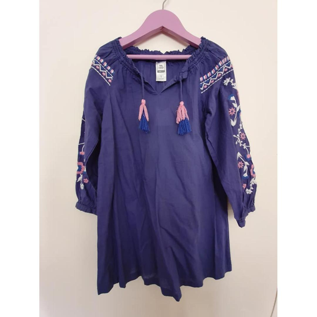 Size 5 New with tags Kids & Co lightweight navy blue dress
