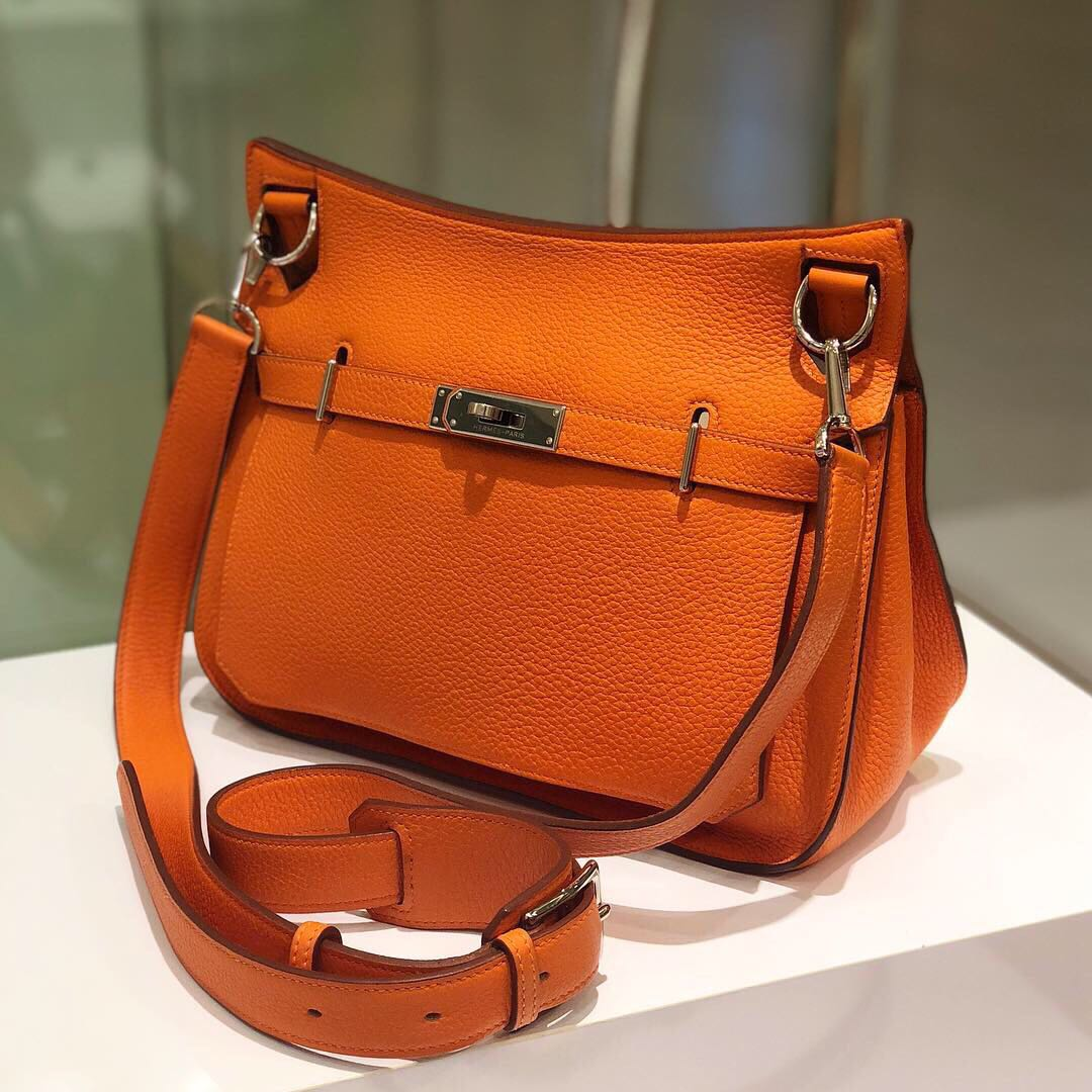 64b52f8a173a ✖️SOLD!✖ Good Deal! Hermes Jypsiere 28 in Orange Clemence ...