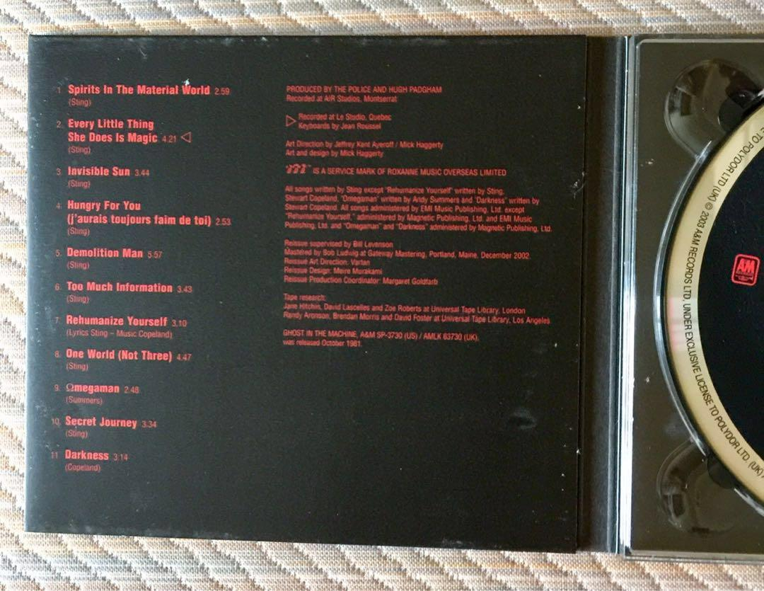 THE POLICE, GHOST IN THE MACHINE, HYBRID SACD, Music & Media