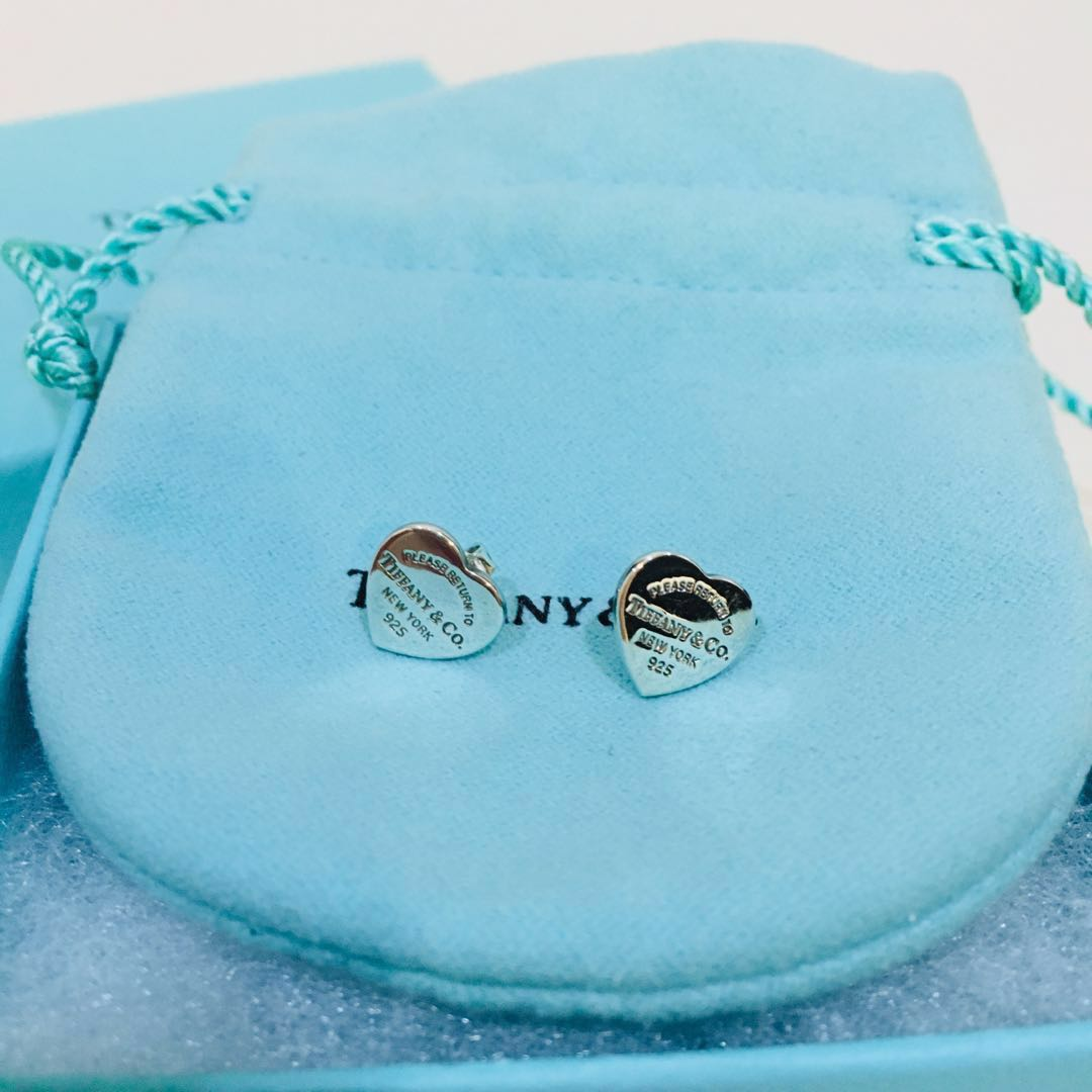 14c76fc69 Tiffany & Co. Return to Tiffany Mini Heart Tag Earrings , Women's ...