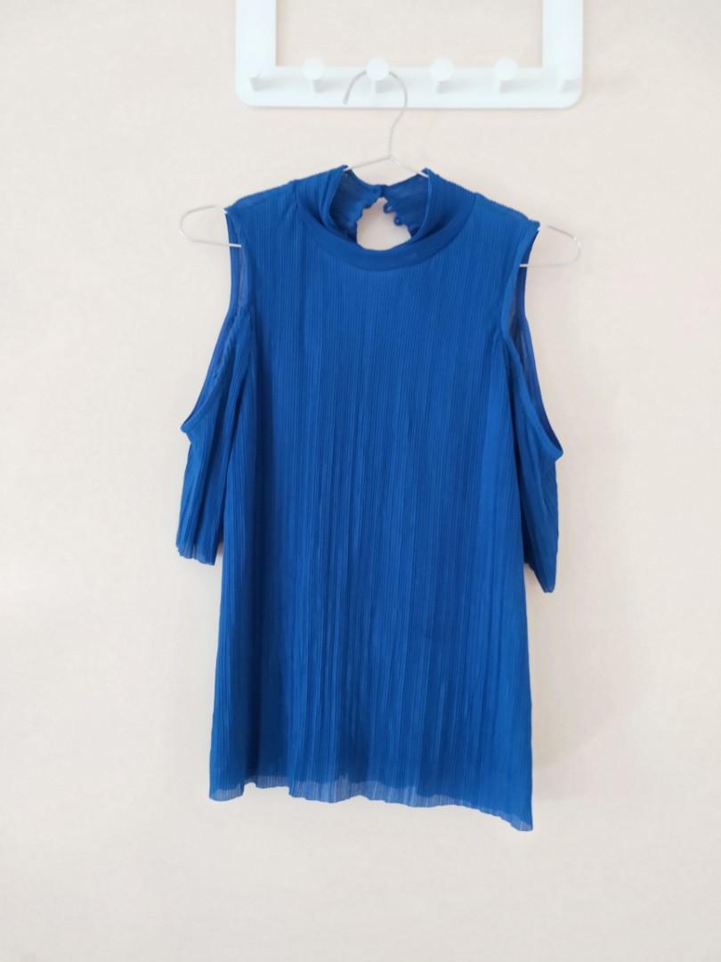 top shop blue top