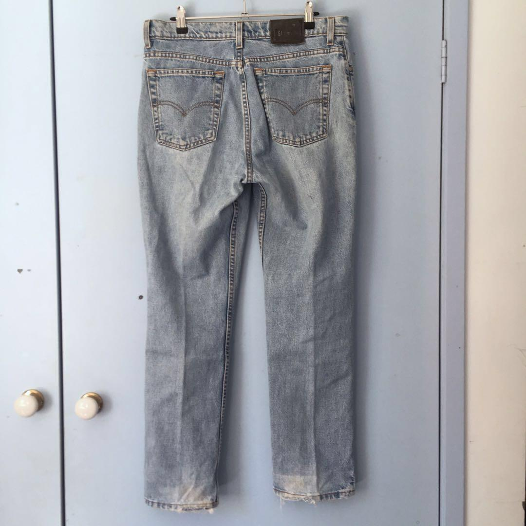 Vintage Silvertab Levi's Slim Fit Straight Leg Blue Denim Jeans