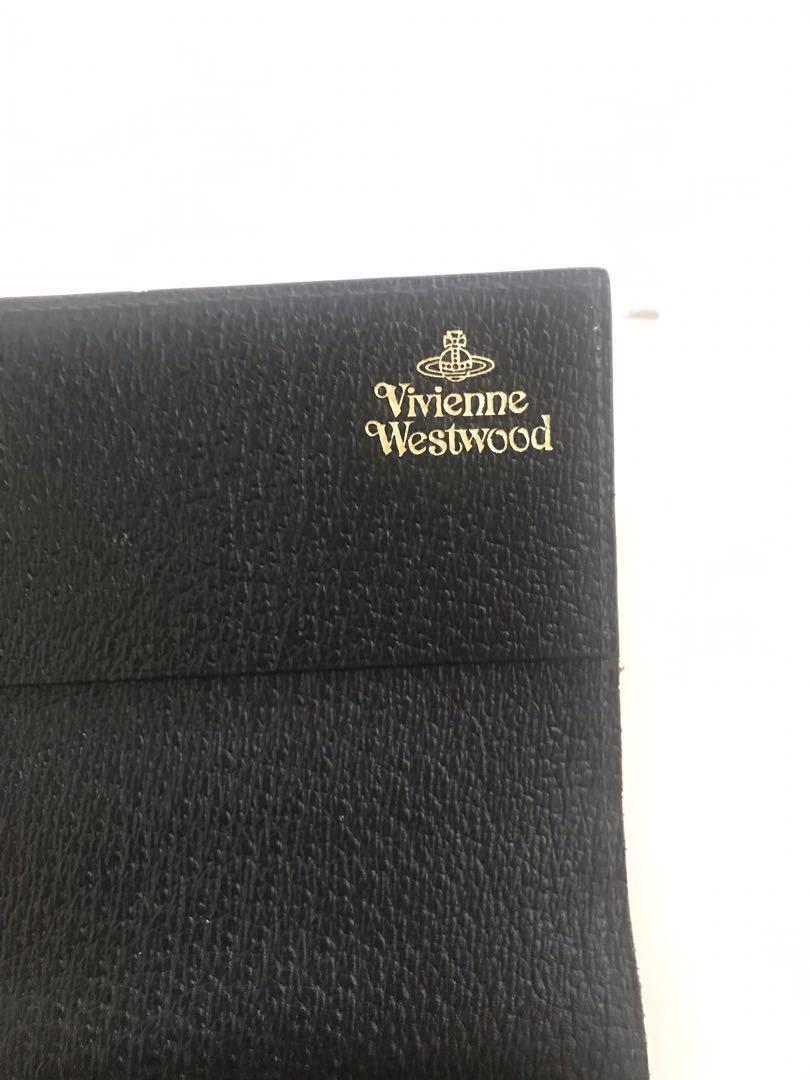 Vivienne Westwood 黑色 荔枝紋 長銀包