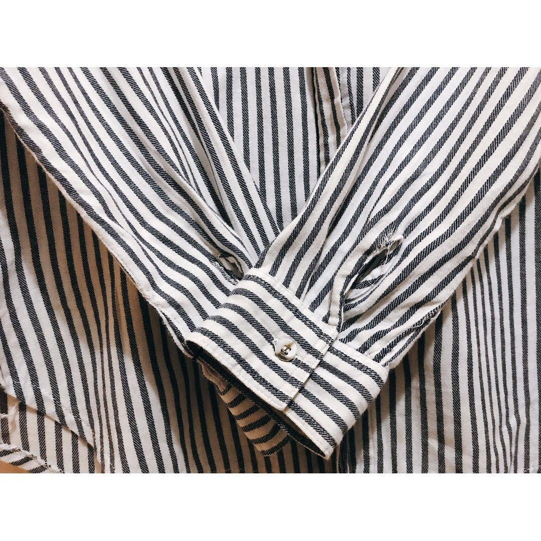 White-and-blue Stripes shirt