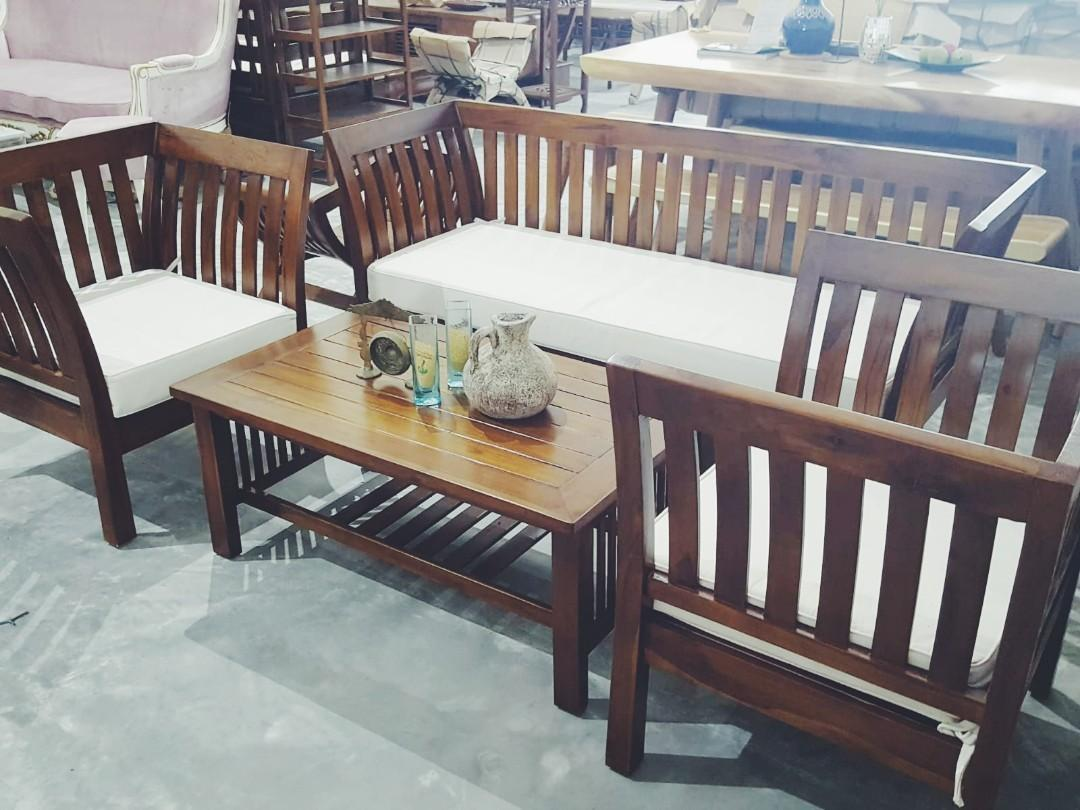 Wooden Sofa Set Solid Teak Wood Sofa Set 3 Seater Sofa Set