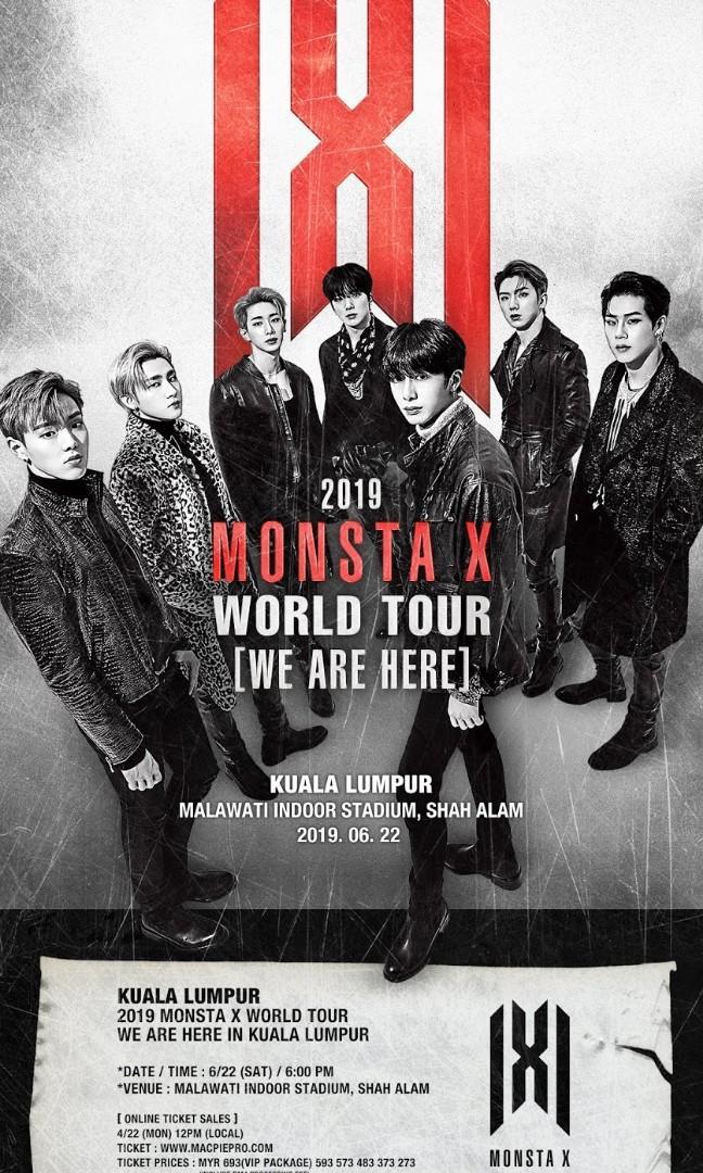 (WTB) MONSTA X VIP TICKET IN MALAYSIA