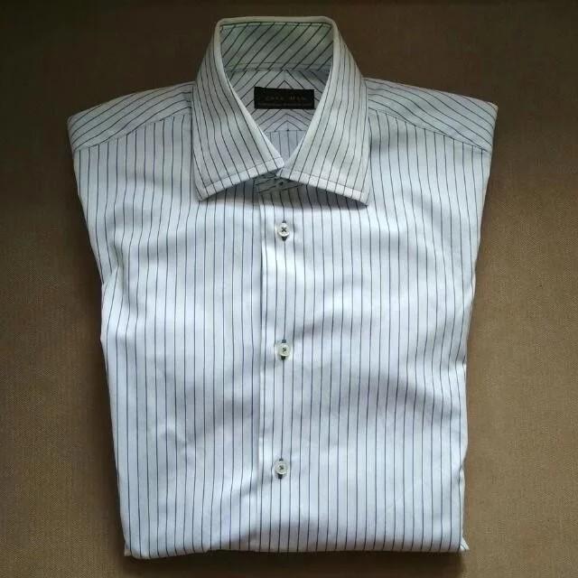 28e7700fbbcf92 Man White with blue stripes Long Sleeves shirt, Men's Fashion ...