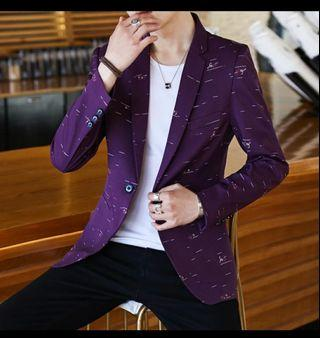 Blazer FREE TEE-SHIRT  men suit slim fit with FREE TEE-SHIRT