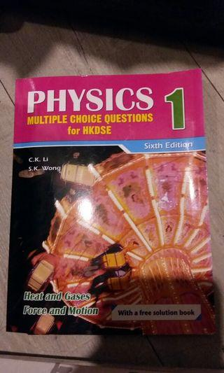Physics~multiple choice questions 1, 3