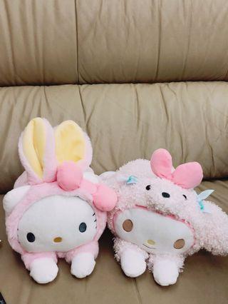 全新 兔子裝KT 狗狗裝美樂蒂 超可愛 絨毛玩偶 娃娃