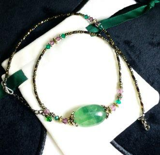 FLUORITE NECKLACE 瑩石頸鏈 #MTRcentral #MTRtw #MTRcwb #MTRmk #MTRtst #MTRssp #MTRst #MTRkt #MTRtko
