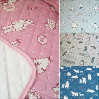 🆒冷感床墊+枕巾2件套 出口日本 兒童嬰兒BB床單床笠 適合夏天使用 全新