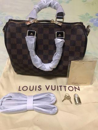 LV Speedy 25 Damier Dark Brown