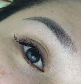 Eyelash Extensions, eyebrows embroidery