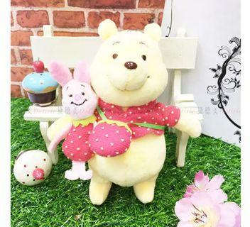娃娃吊飾 迪士尼 DISNEY 小熊維尼 小豬 草莓 絨毛娃娃 日本製造進口授權