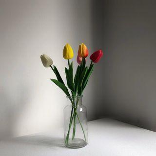 [Set of 5] Fake Tulips Plant Decor
