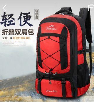 75L超大背囊   輕便簡約  旅遊背包  運動包