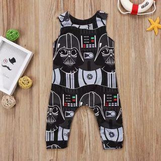 Baby Romper UK Newborn Baby Boys Star Wars Sleeveless Clothes