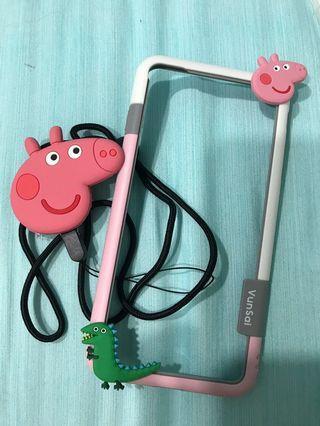 IPhone 7 Plus Peppa Pig frame casing