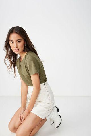[3 for $10] Cotton On Olive Green Crew Neck Tee