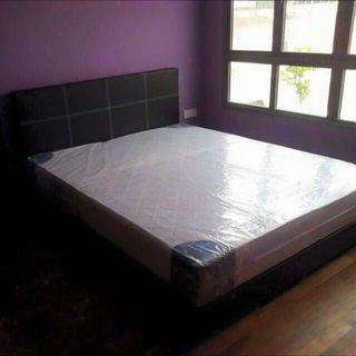 "Queen Bed Frame + 8"" Foam Mattress @ $250"
