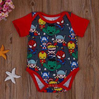 Baby Romper Super Heroes Newborn Baby Boy