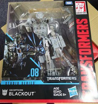 全新 現貨 孩之寶 變形金剛 ss08 黑魔 眩暈 直升機 電影版 studio series leader class transformer