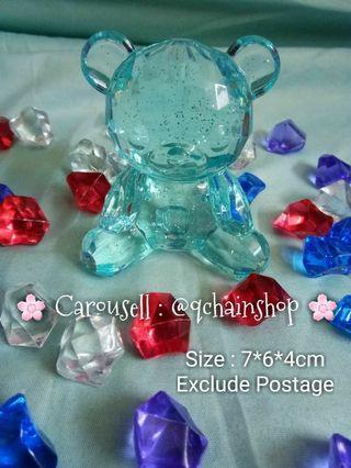 [READY STOCK] Acrylic Diamond Cut Bear Crystal