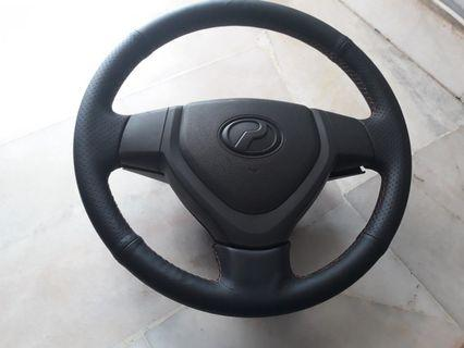 Perodua alza cover steering hand sewing stitch