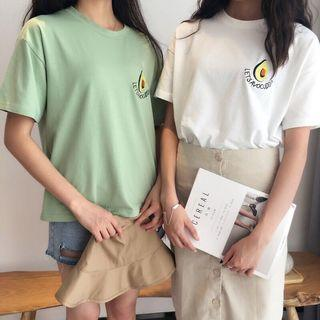 [po] avocado embroidered tee