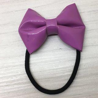 🚚 粉紫色蝴蝶結🎀髮圈髮帶髮飾綁頭髮#我單身我驕傲
