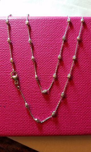 "18K750 White Gold Necklace 16""$1500~,18""$1600~,20""$1700.~❤ NEW❤ Italy Gold 18K750白金頸鍊"