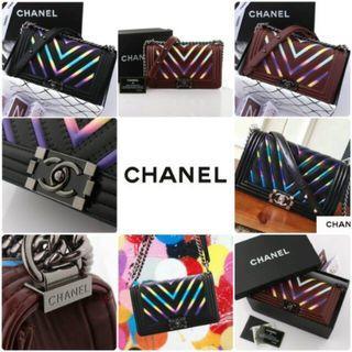 Chanel Boy Iridescent Chevron