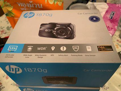 HP front and rear Dashcam F870g