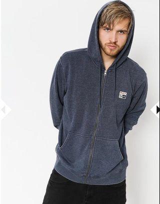 RVCA Sweatshirt Foxhole Zip (denim heathr)