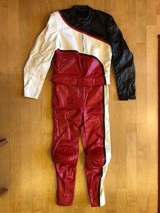 Real Leather Full Body Motorcycle Riding Suit