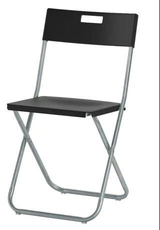 Ikea Gunde Black Foldable Chair