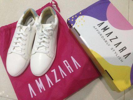 Amazara Shoes (Vanessa white baby blue suede)