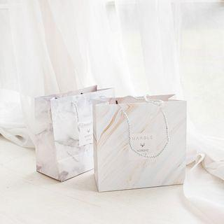 Marble Nordic Style Fancy Paper Bag