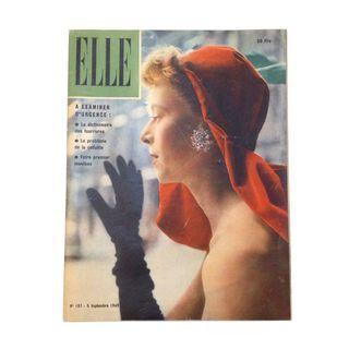 (SET of 3) 1949/40s ELLE French Vintage Fashion Magazine